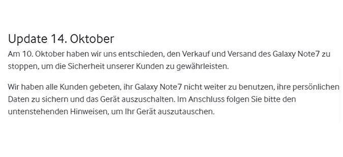 Das Note7: Samsung und die Reaktion auf ein #bendgate hoch zehn