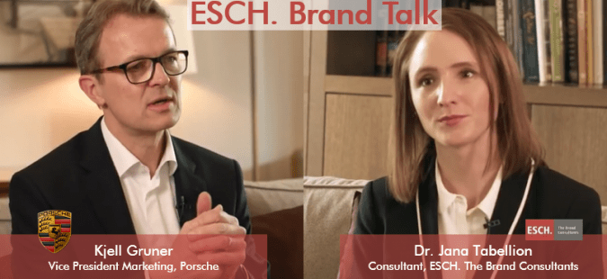ESCH. Brand Talk mit Dr. Kjell Gruner, Vice President Marketing bei Porsche