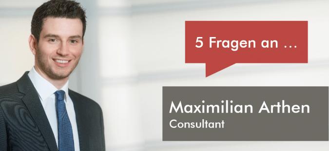 5 Fragen an Maximilian Arthen, Consultant bei ESCH. The Brand Consultants