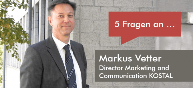 5 Fragen an Markus Vetter, Director Marketing and Communication KOSTAL