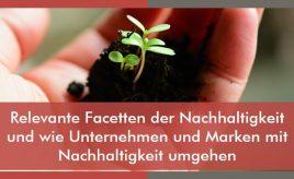 Relevante Facetten der Nachhaltigkeit und wie Unternehmen und Marken mit Nachhaltigkeit umgehen l Markenstrategie & Markenimplementierung l ESCH. The Brand Consultants GmbH