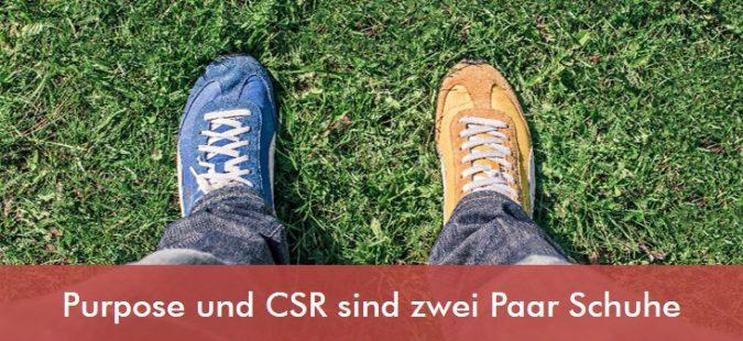 Purpose und CSR sind zwei Paar Schuhe