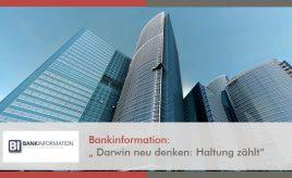 """Bankinformation: """"Darwin neu denken: Haltung zählt"""" l Leitbildentwicklung: Purpose / Vision / Unternehmenswerte l ESCH. The Brand Consultants GmbH"""