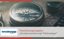 Versicherungsmagazin l Kundenorientierung? Fehlanzeige! l Customer Touchpoint Management l ESCH. The Brand Consultants GmbH