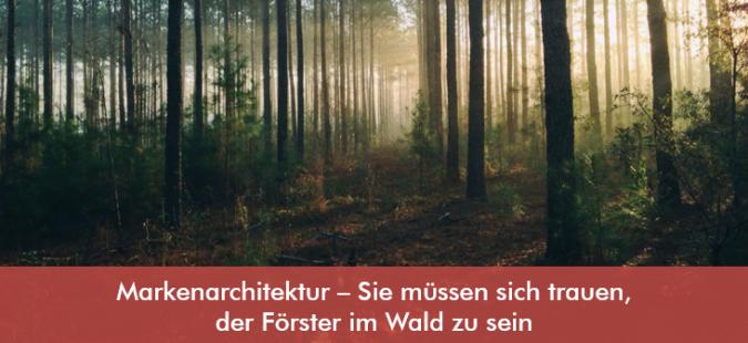 Markenarchitektur – Sie müssen sich trauen, der Förster im Wald zu sein