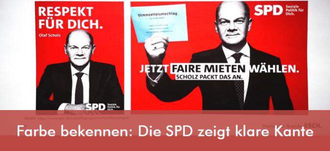 Farbe bekennen: Die SPD zeigt klare Kante